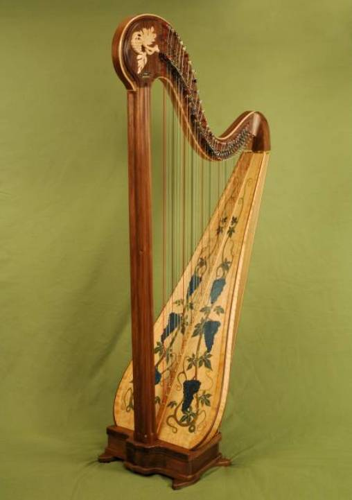 Gallery: Custom Walnut Chamber Harp